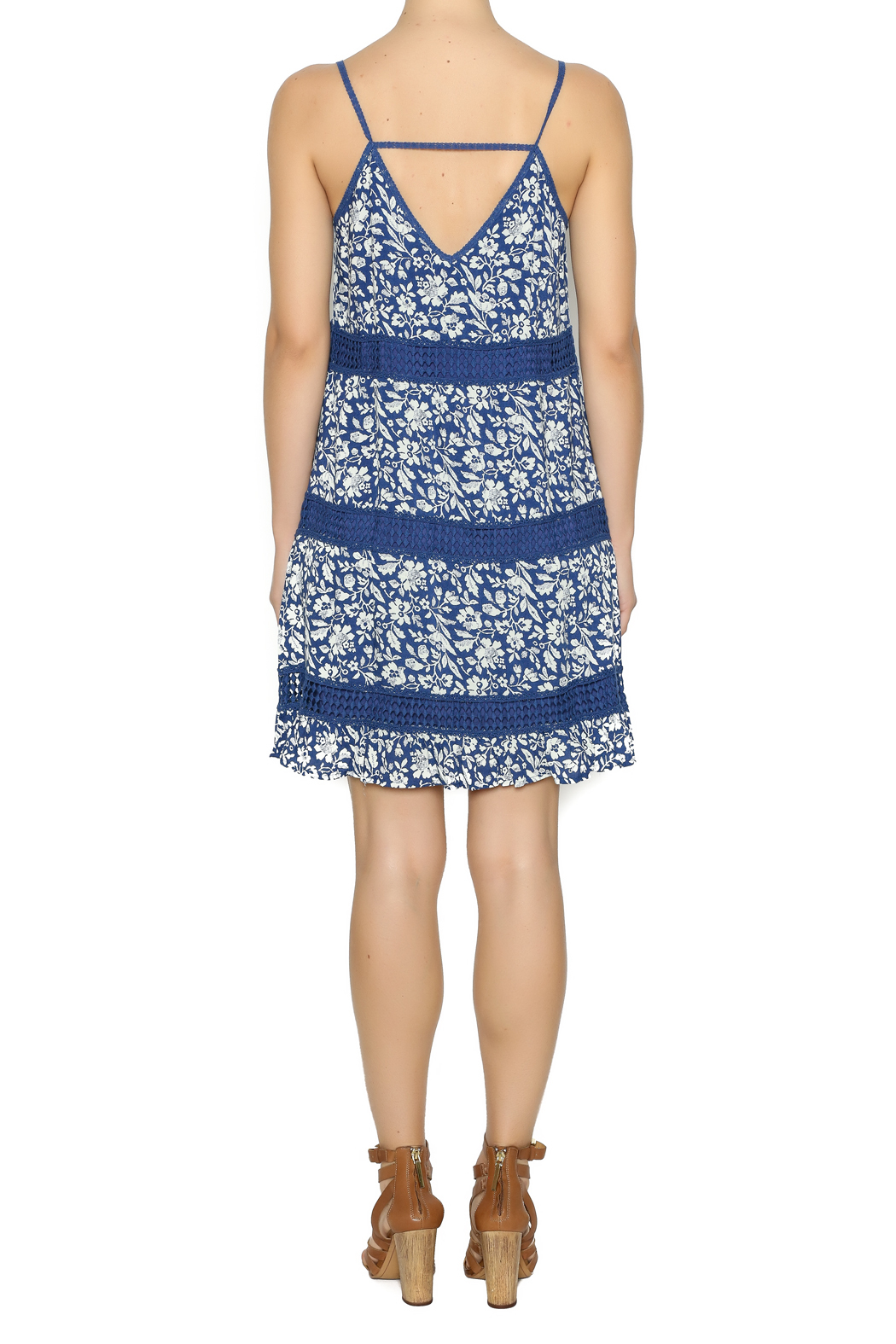 Andree Mini Floral Printed Dress - Side Cropped Image