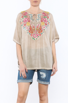 Shoptiques Product: Beige Embroidered Blouse