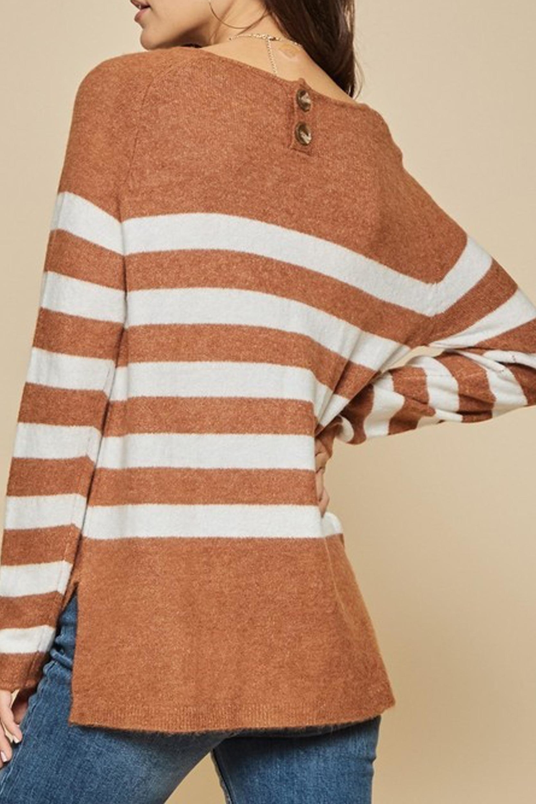 Andree The Breck Striped-Sweater - Back Cropped Image