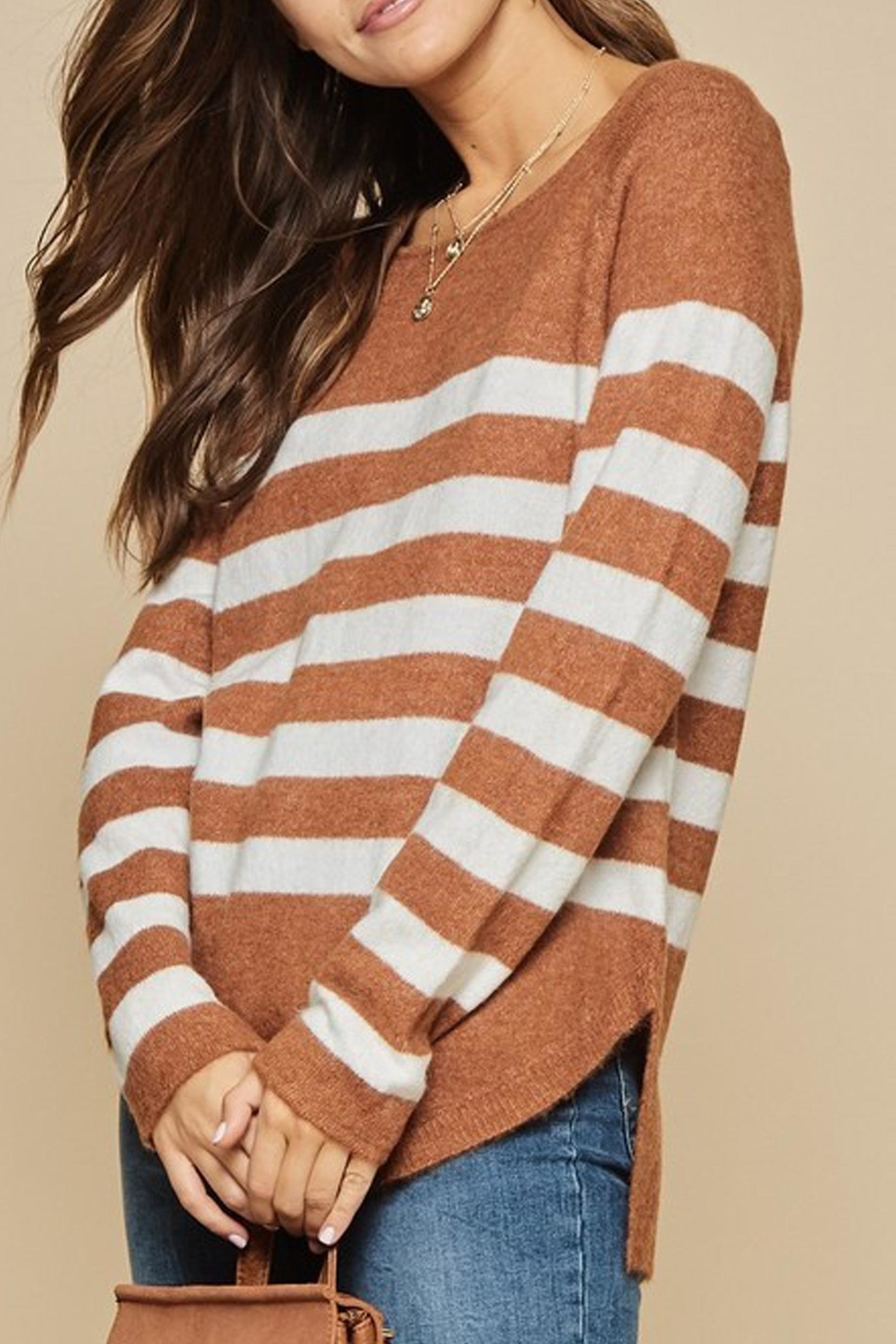 Andree The Breck Striped-Sweater - Side Cropped Image