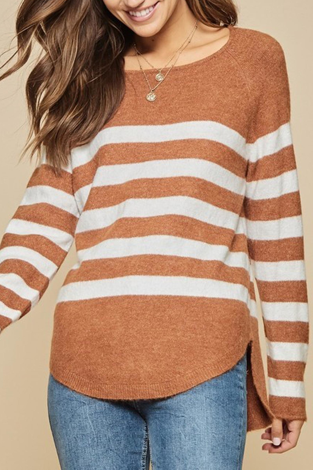 Andree The Breck Striped-Sweater - Front Full Image