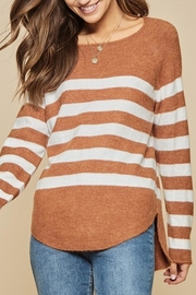 Andree The Breck Striped-Sweater - Front full body