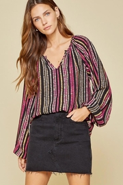 Andree by Unit Balloon Sleeve Long Sleeve Top - Back cropped