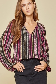 Andree by Unit Balloon Sleeve Long Sleeve Top - Front cropped