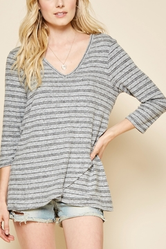 Shoptiques Product: Brushed Knit Stripe Sweater