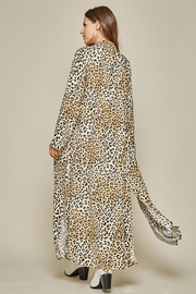 Andree by Unit Button Down Leopard Maxi Shirt Dress - Front full body