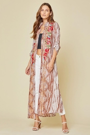 Andree by Unit Button Down Maxi Shirt Dress With Embroidery - Other