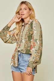 Andree by Unit Button Down Top With Balloon Sleeves - Other