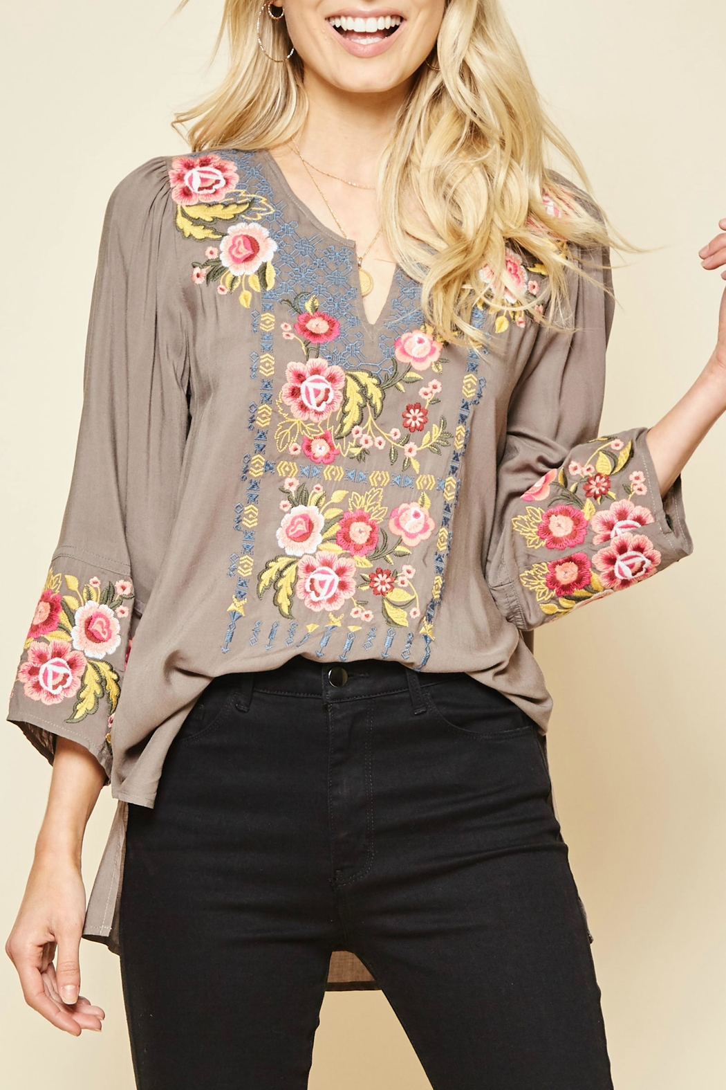 Andree by Unit Charlotte Embroidered Tunic - Main Image
