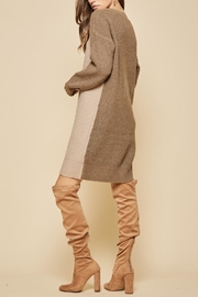 Andree by Unit Colorblock Sweater Dress - Front full body