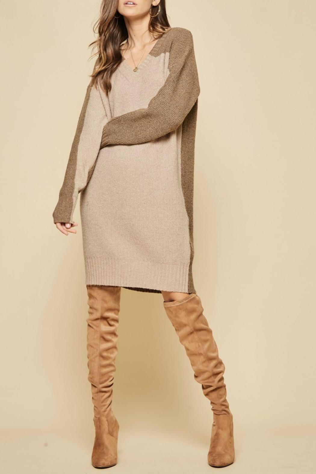 Andree by Unit Colorblock Sweater Dress - Main Image