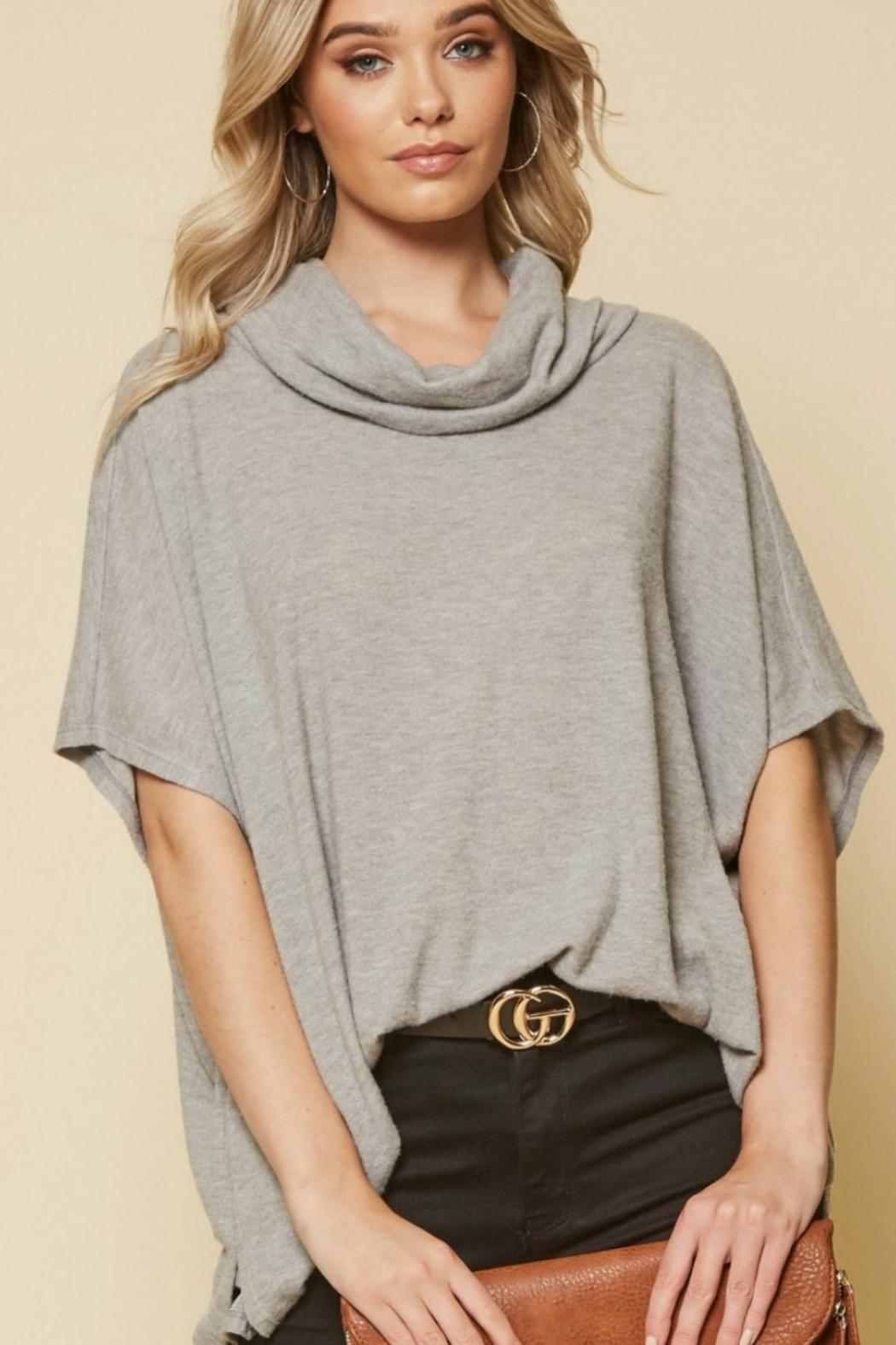 Andree by Unit Cowl Neck Lauren-Tunic - Side Cropped Image
