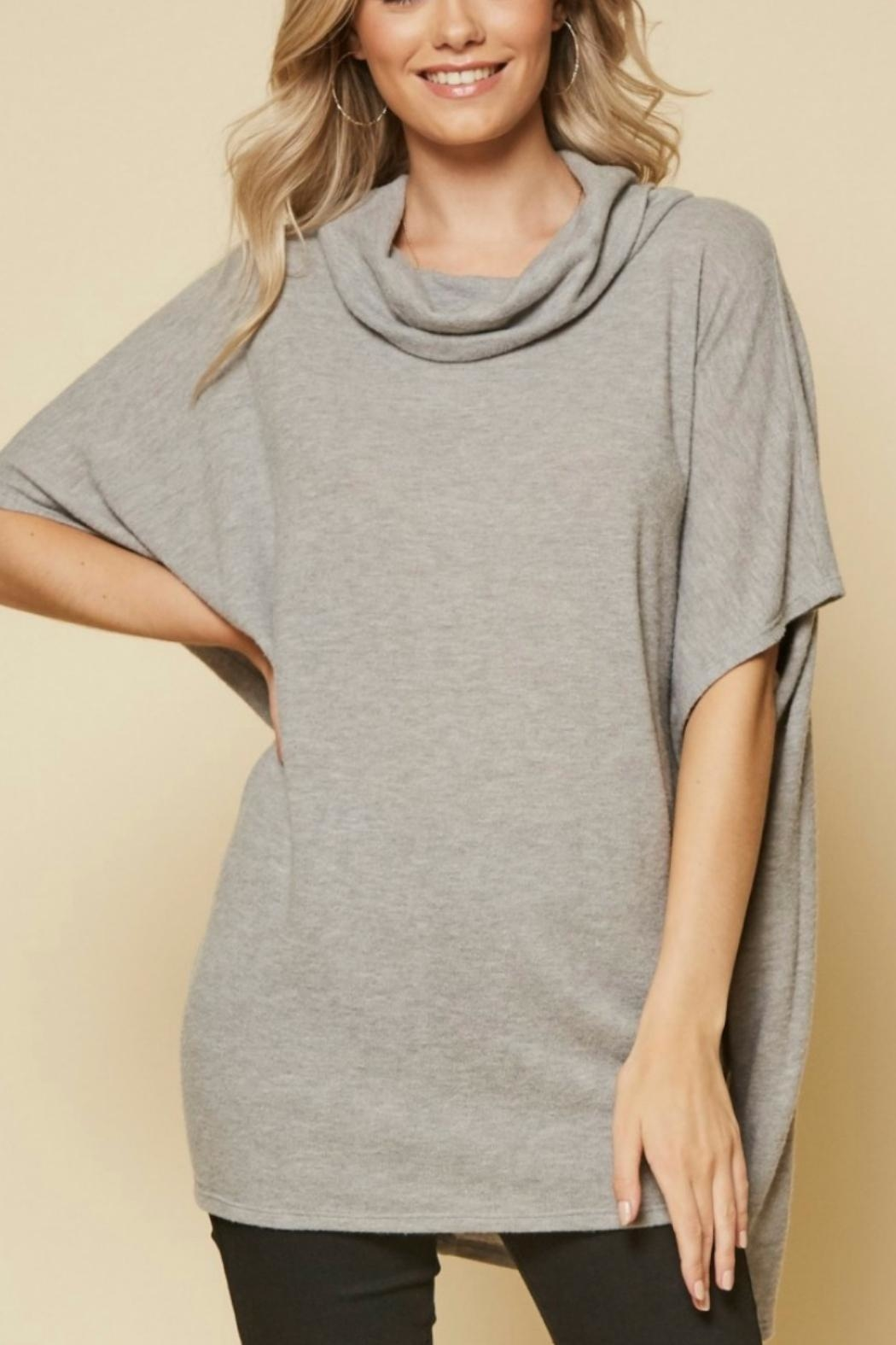 Andree by Unit Cowl Neck Lauren-Tunic - Back Cropped Image