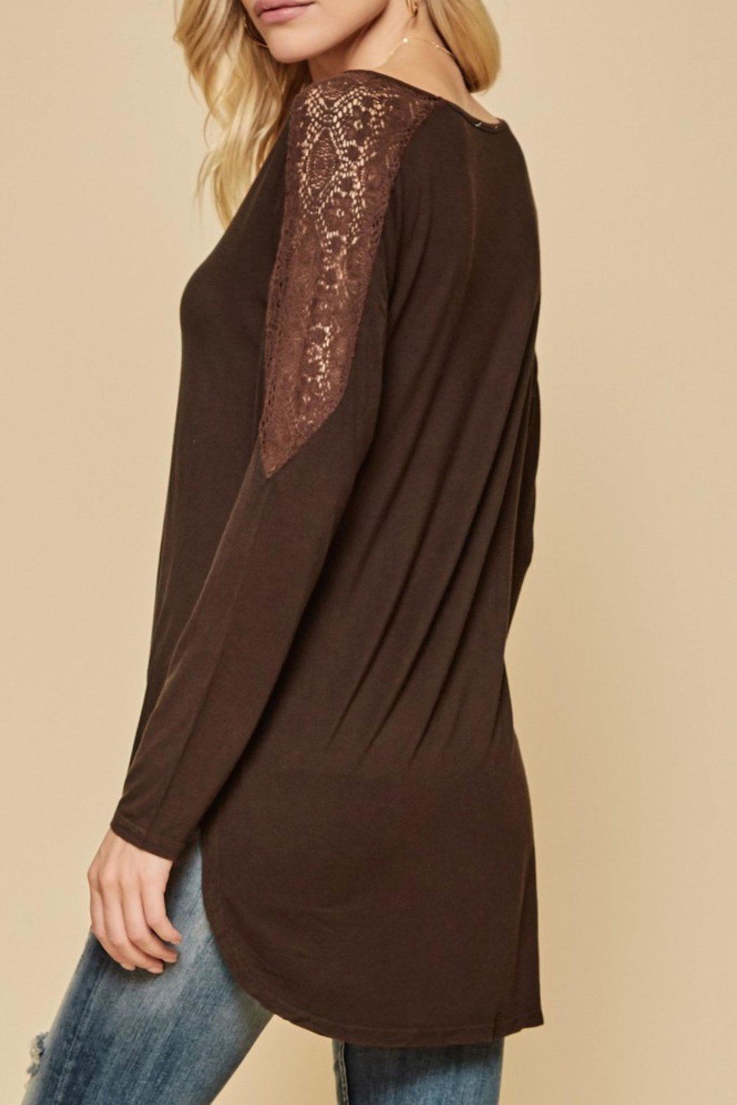 Andree by Unit Crochet Shoulder Top - Front Full Image