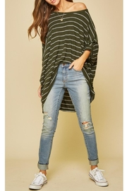 Andree by Unit Dolman Striped Top - Product Mini Image