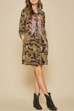 Andree by Unit Embroidered Camo Dress - Product List Image