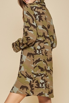 Andree by Unit Embroidered Camo Dress - Alternate List Image
