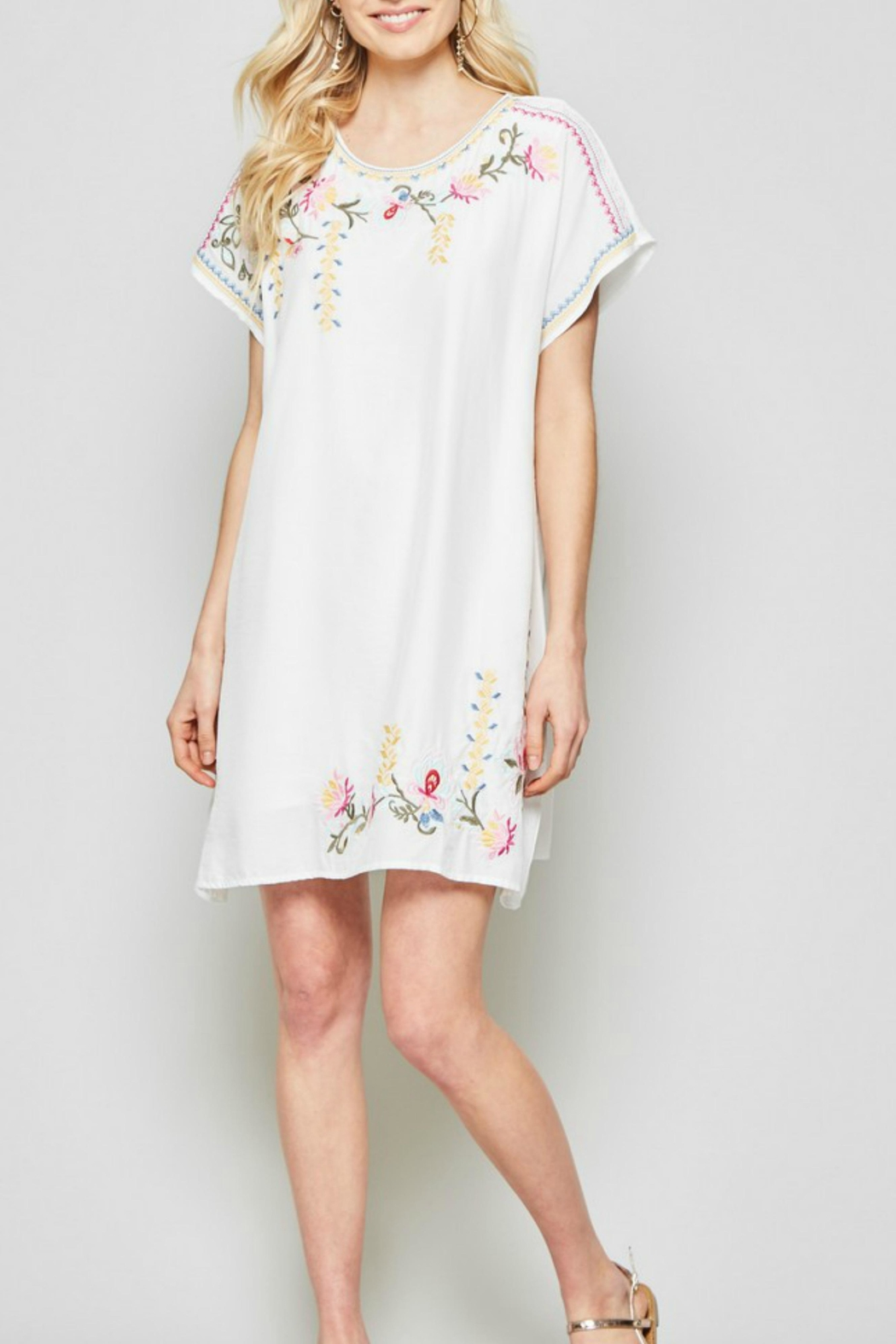 Andree by Unit Embroidered Capsleeve  Dress - Main Image