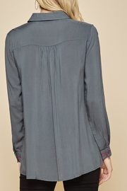 Andree by Unit Embroidered Collar Tunic Blouse - Front full body
