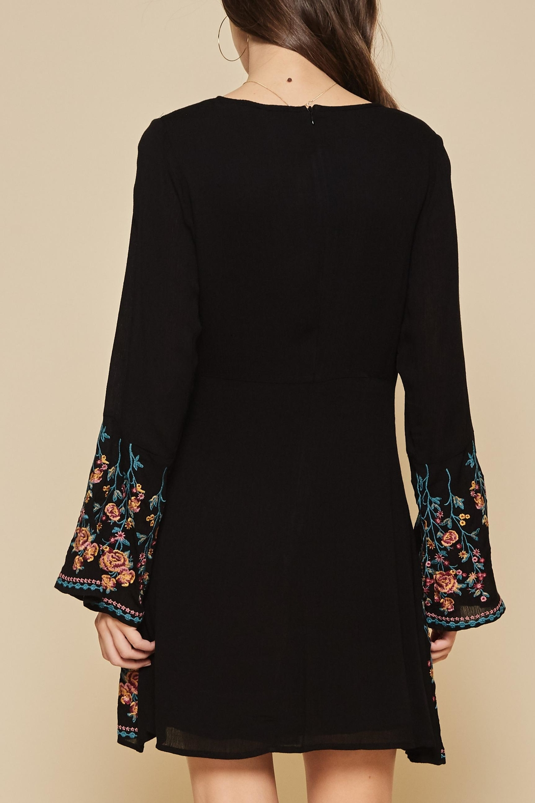 Andree by Unit Embroidered Flare Dress - Front Full Image