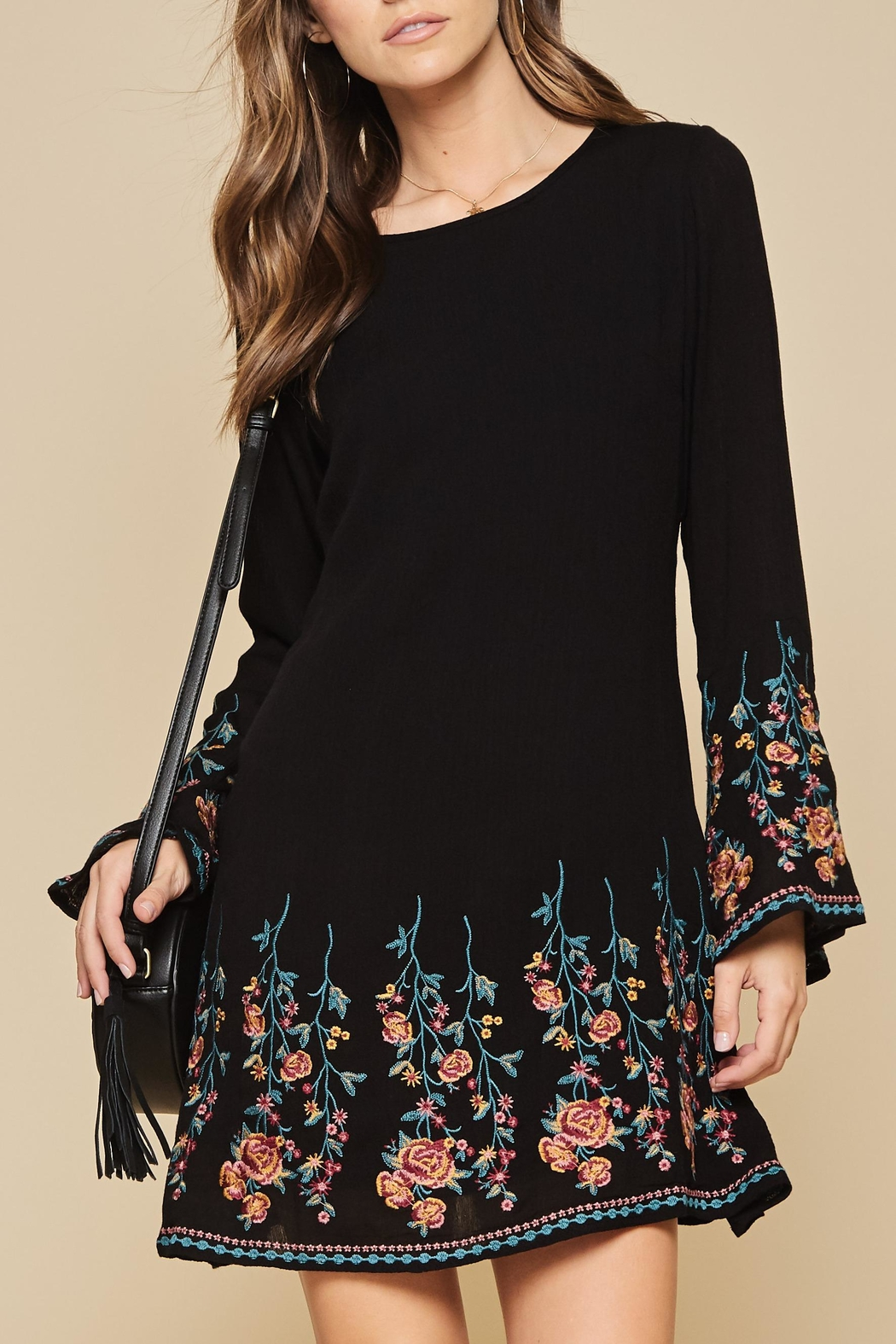 Andree by Unit Embroidered Flare Dress - Main Image
