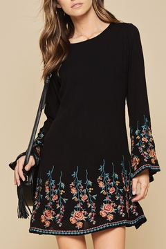 Shoptiques Product: Embroidered Flare Dress