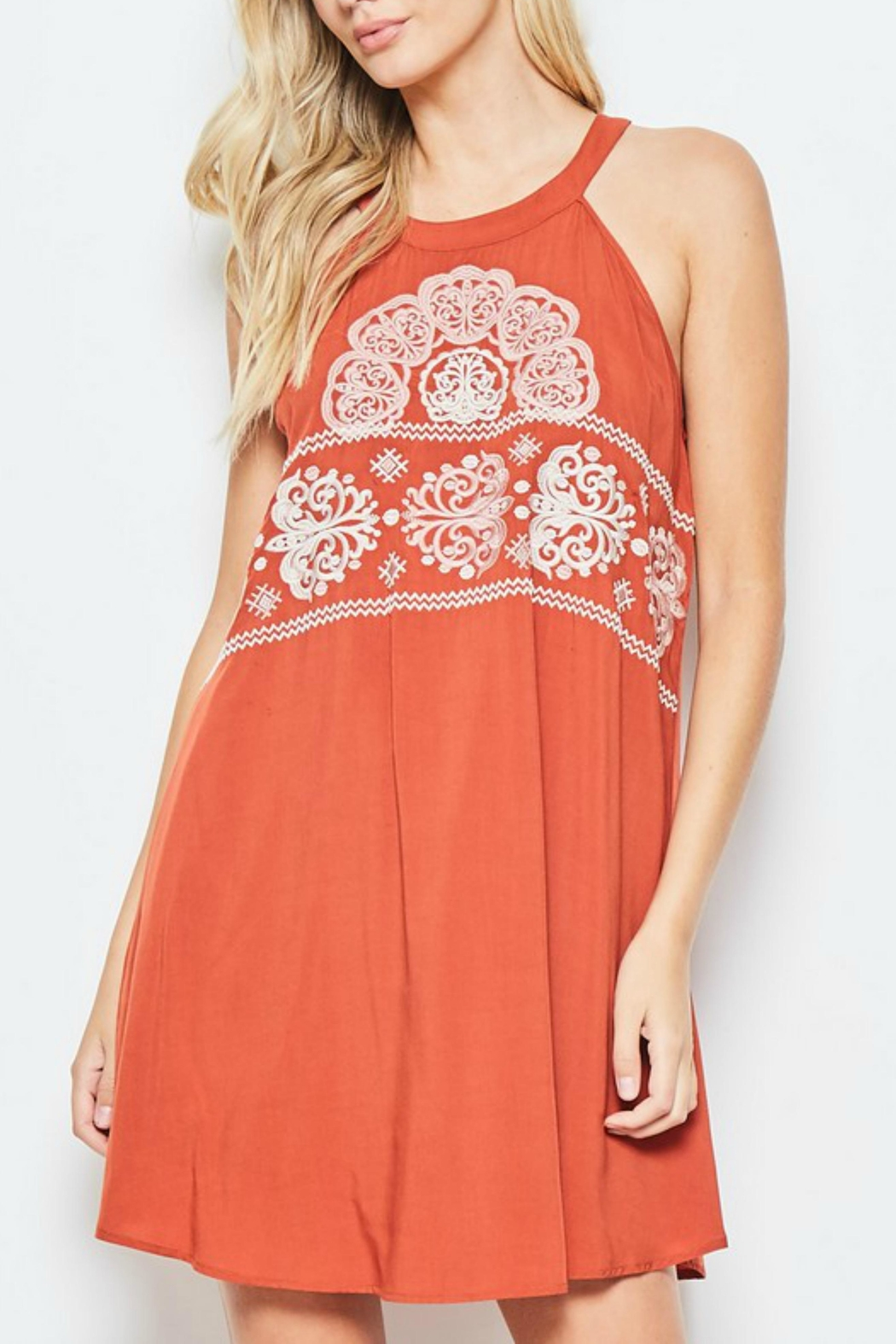 Andree by Unit Embroidered Halter Top/dress - Main Image