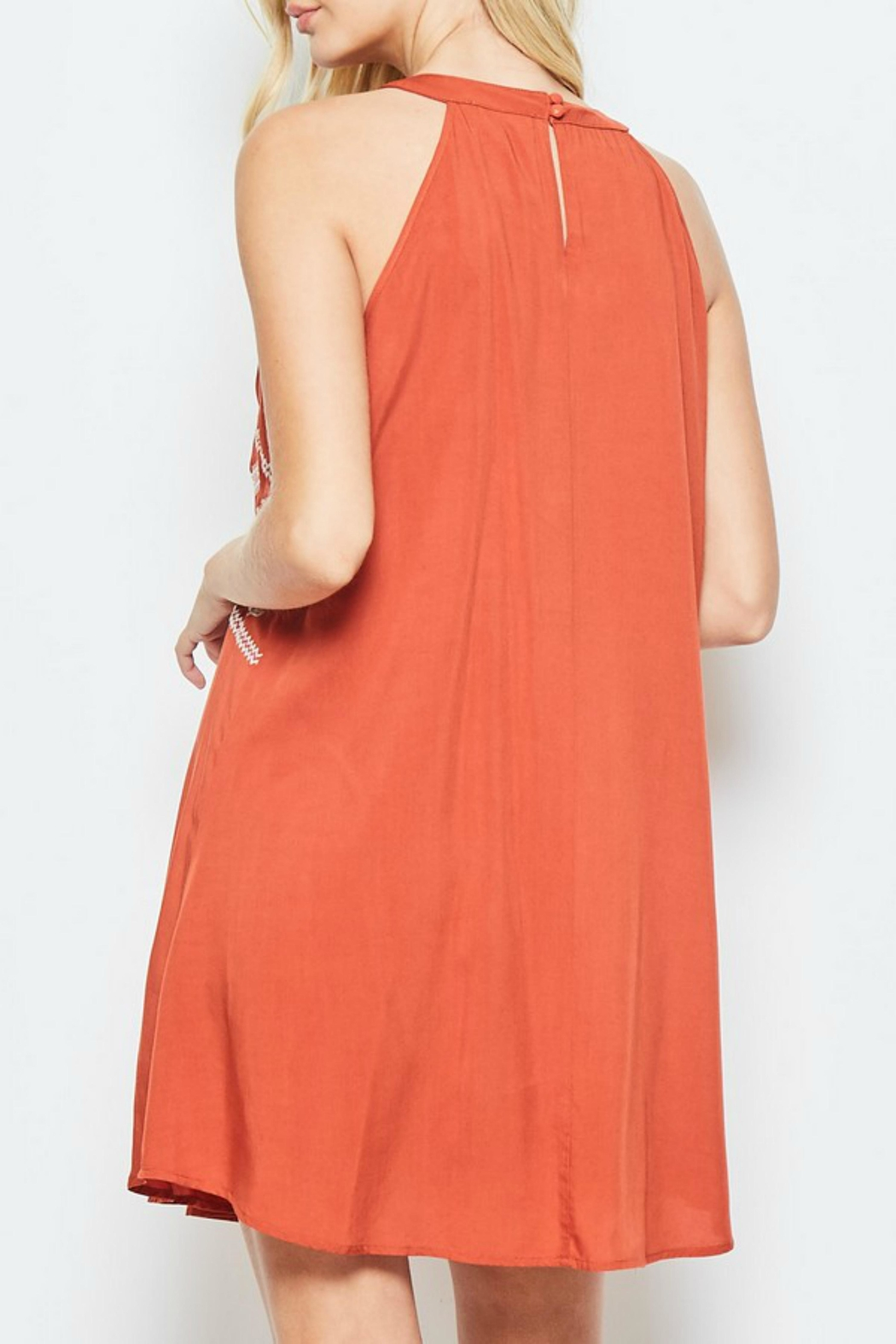 Andree by Unit Embroidered Halter Top/dress - Front Full Image