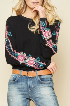Shoptiques Product: Embroidered Sleeved Top