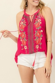 Andree by Unit Embroidered Tassel Tank - Product Mini Image