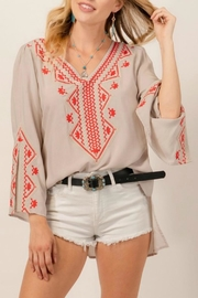 Andree by Unit Embroidered Tunic Top - Product Mini Image