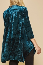 Andree by Unit Embroidered Velvet Tunic - Front full body