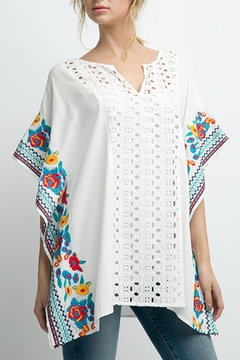 Shoptiques Product: Embroidery Poncho