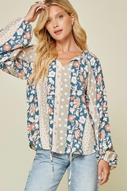 Andree by Unit Floral And Polka Dot Mix Top - Front cropped