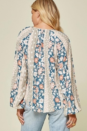 Andree by Unit Floral And Polka Dot Mix Top - Front full body