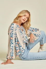 Andree by Unit Floral And Polka Dot Mix Top - Back cropped