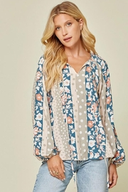 Andree by Unit Floral And Polka Dot Mix Top - Side cropped