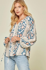 Andree by Unit Floral And Polka Dot Mix Top - Other
