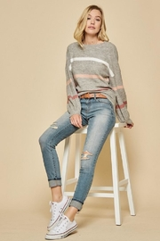 Andree by Unit Grey Striped Sweater - Product Mini Image