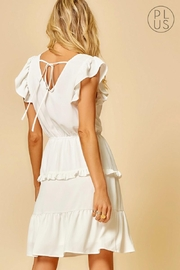 Andree by Unit Ivory Ruffle-Tiered Dress - Front full body