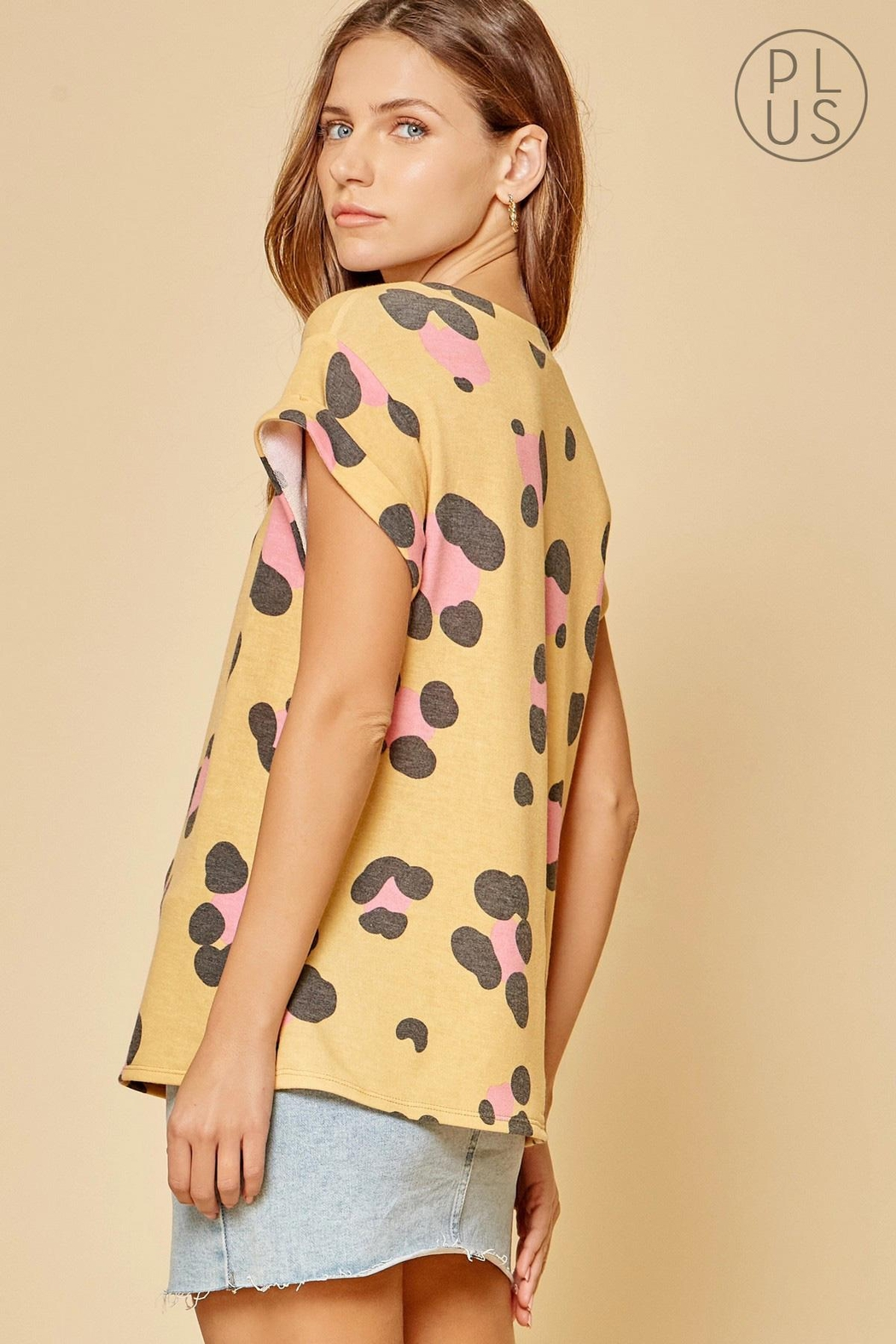 Andree by Unit Leopard Print Top - Front Full Image
