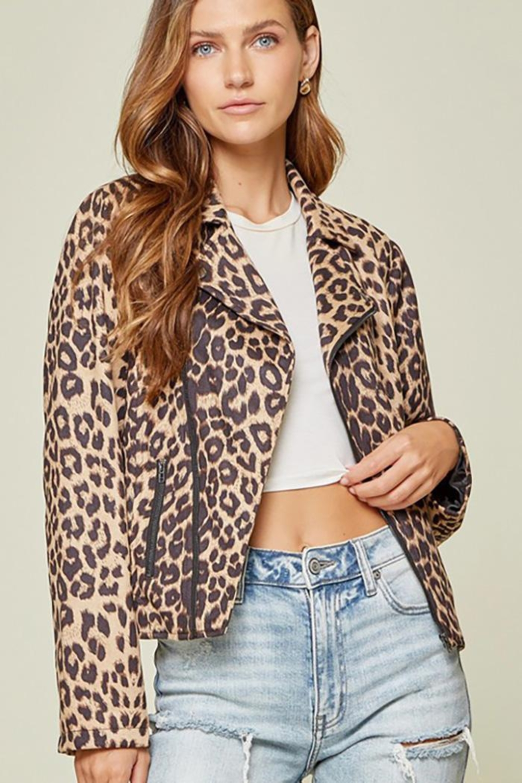 Andree by Unit Leopard Printed Jacket - Front Full Image