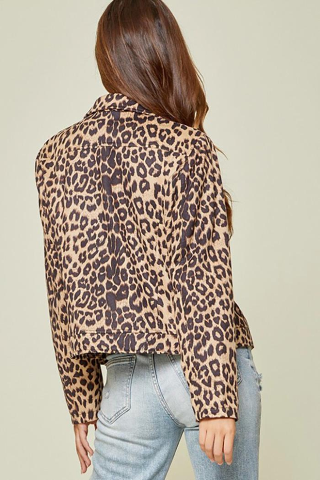 Andree by Unit Leopard Printed Jacket - Side Cropped Image