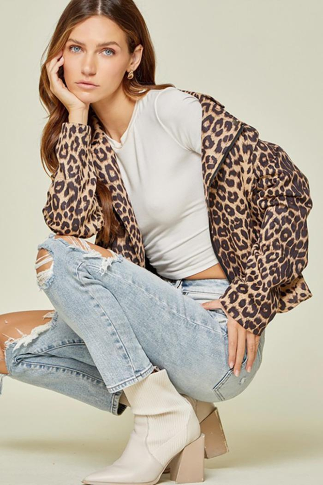Andree by Unit Leopard Printed Jacket - Main Image