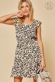 Andree by Unit Leopard Ruffle-Neckline Dress - Product Mini Image