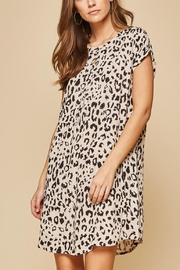 Andree by Unit Leopard Shift Dress - Product Mini Image