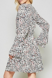 Andree by Unit Leopard Silky Dress - Front full body