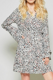 Andree by Unit Leopard Silky Dress - Product Mini Image
