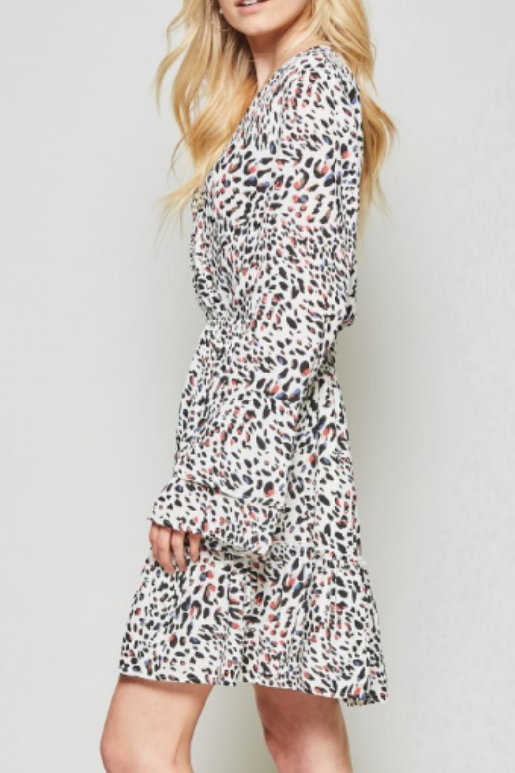 Andree by Unit Leopard Silky Dress - Side Cropped Image