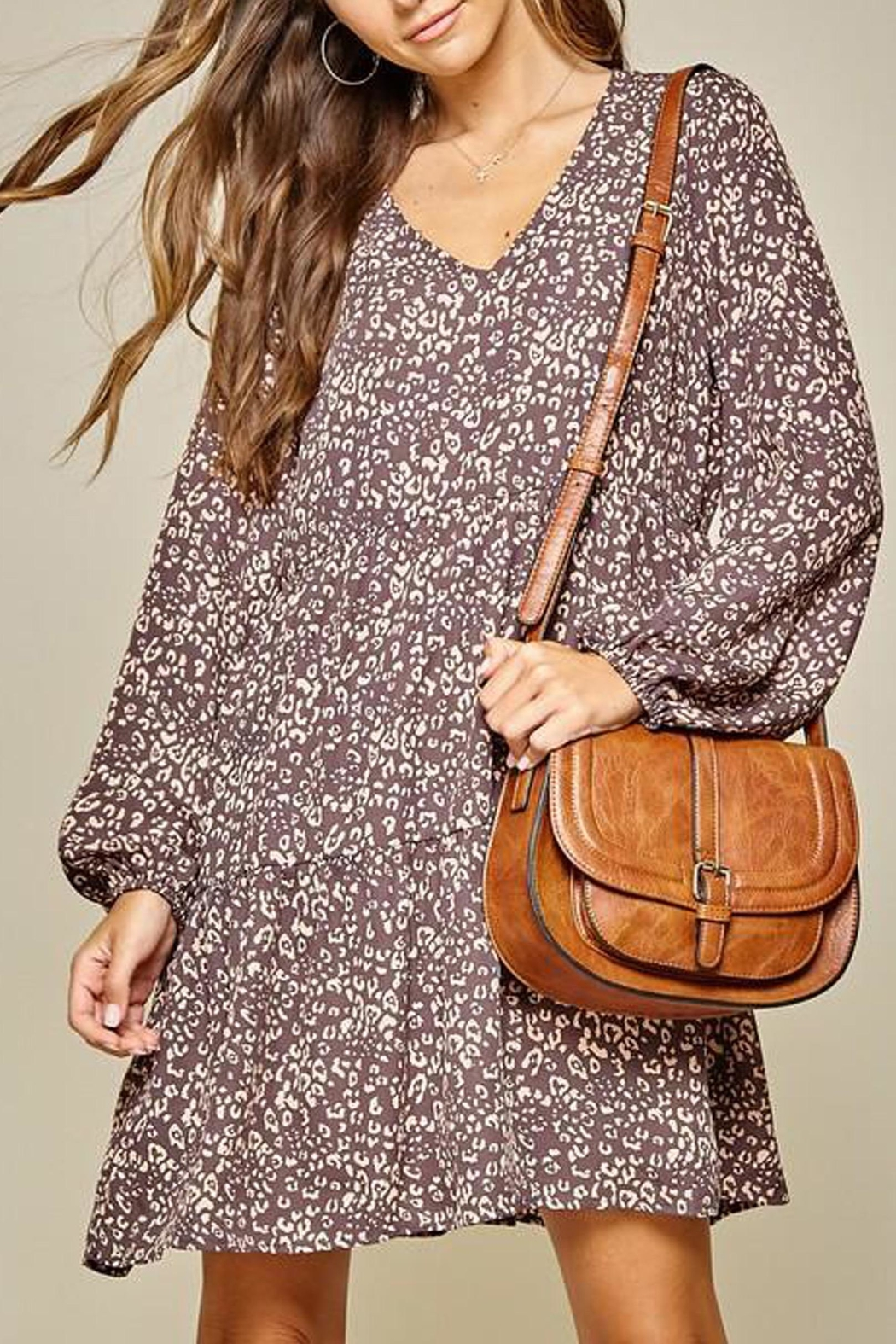 Andree by Unit Leopard Tiered Shift-Dress - Main Image